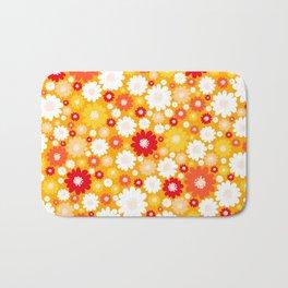 Small Daisy pattern - orange, red, yellow Bath Mat