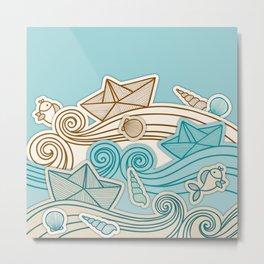 Beach fish sea Metal Print