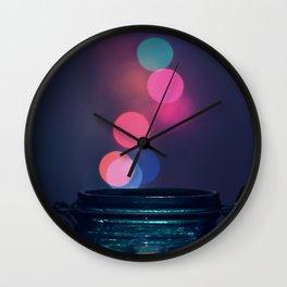 Bokeh Lighting Effects II Wall Clock