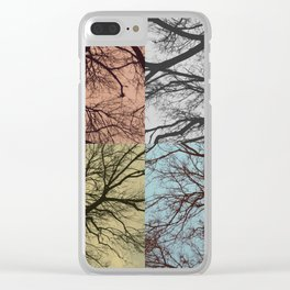 Trees // Squared Clear iPhone Case