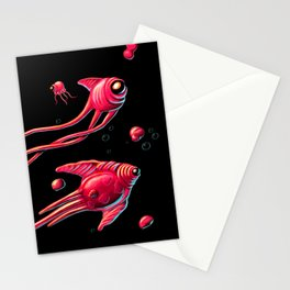 Outer Space Pinkfish Stationery Cards
