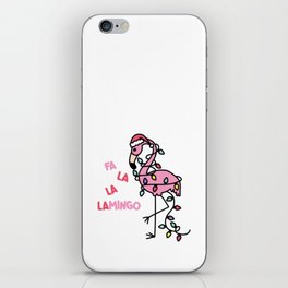 Christmas Flamingo iPhone Skin