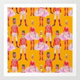 Nutcracker Ballet - Marigold Gold Yellow Art Print