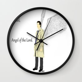 Castiel, Angel of the Lord. Wall Clock