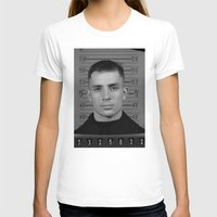 kerouac T-shirts featuring Jack Kerouac Naval Enlistment Mug Shot  by All Surfaces Design