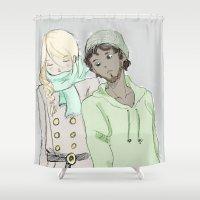 les miserables Shower Curtains featuring pRouvaire Les Mis by Pruoviare