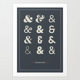 Ampersand Print Art Print