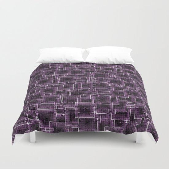 The Maze - Lilac Duvet Cover
