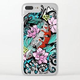 Colored Carpa Koi Clear iPhone Case