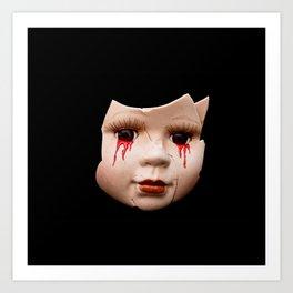 Blood Doll Face II Art Print