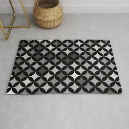 Geometric Star Pattern - Night #263 Rug
