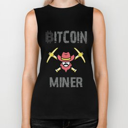 Bitcoin Miner - Funny Cryptocurrency T-Shirt (Blockchain, Mining, Coin, Token, Ether, Crypto, Hodl) Biker Tank