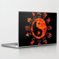 yin yang Laptop & iPad Skins featuring Yin yang. by DesignAstur