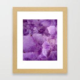 Violet Kryptonite Crystals Framed Art Print