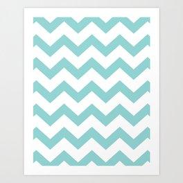 Chevron Blue Art Print