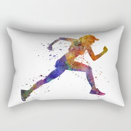 Woman runner jogger running Rectangular Pillow