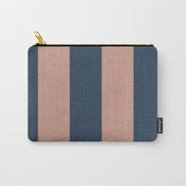 5th Avenue Stripe No. 1 in Smoked Salmon and Midnight Blue Carry-All Pouch