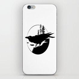 Raven Silhouette II iPhone Skin
