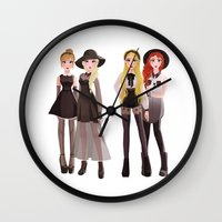 coven Wall Clocks featuring Coven by archibaldart