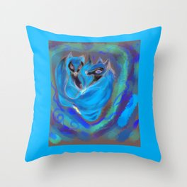 fox heart ,  cardiac Throw Pillow