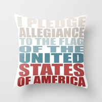 america Throw Pillows featuring America by Jason Michael
