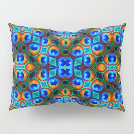 Peacock Feathers -Blue/Gold Pillow Sham