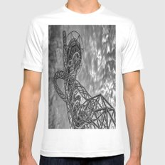 The Arcelormittal Orbit Monochrome White Mens Fitted Tee MEDIUM