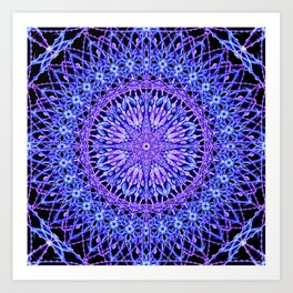 Beads of Light Mandala Art Print