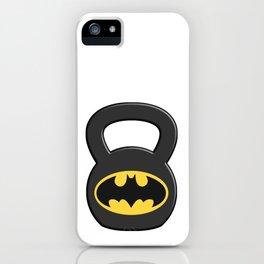 3D Kettlebell Hero Bat iPhone Case