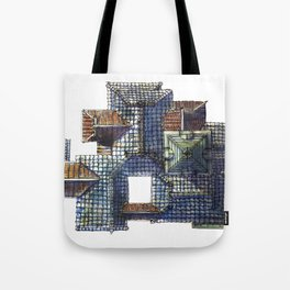 Taiwanese roofscapes 01(colored) Tote Bag