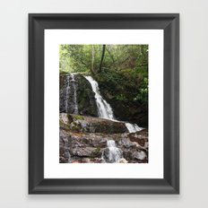 Tennessee Waterfall Smoky Mountains Color Photo Framed Art Print