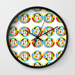 Multicolor circles II-abstraction,abstract,geometric,geometrical,pattern,circle,sphere Wall Clock