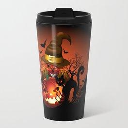 Skull Witch Creepy Halloween Travel Mug
