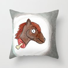 Lisa's Pony Throw Pillow