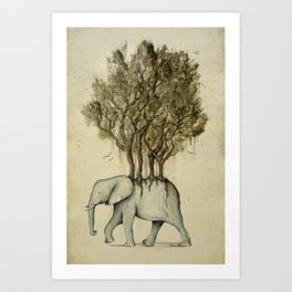 Carrying the Νature Art Print