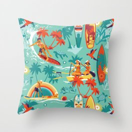 Hawaiian resort Throw Pillow