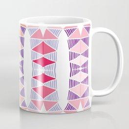 Colorful Tropical Vertical Geometric Zenspire Pattern Coffee Mug