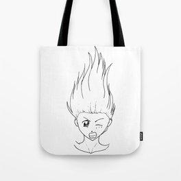 Falling Girl Shirt Tote Bag