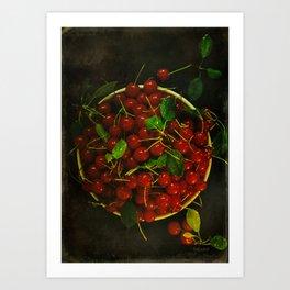 The Last Cherrie Bowl Art Print