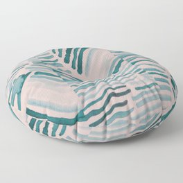 Trippy Turquoise Waves Floor Pillow