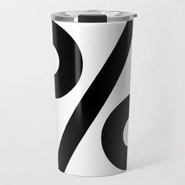 Percent Sign (Black & White) Travel Mug