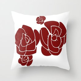 Rose Graphic Throw Pillow
