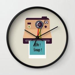 Oh ! Snap !  Wall Clock