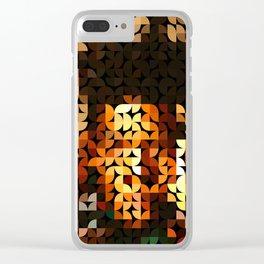Geo Basquiat Clear iPhone Case