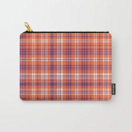 Varsity plaid purple orange and white clemson sports college football universities Carry-All Pouch