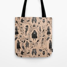 Creatures of the Night (orange) Tote Bag