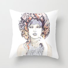 Spring fashion portrait Throw Pillow