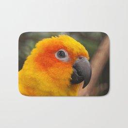 Sun conure parrot Bath Mat