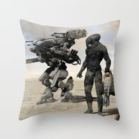 kieren walker Throw Pillows featuring Walker by Steve Thorpe