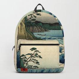 Hiroshige - 36 Views of Mount Fuji (1858) - 23: The Sea off Satta in Suruga Province Backpack